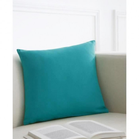 TODAY Coussin déhoussable 100% coton 40x40cm Mer du Sud