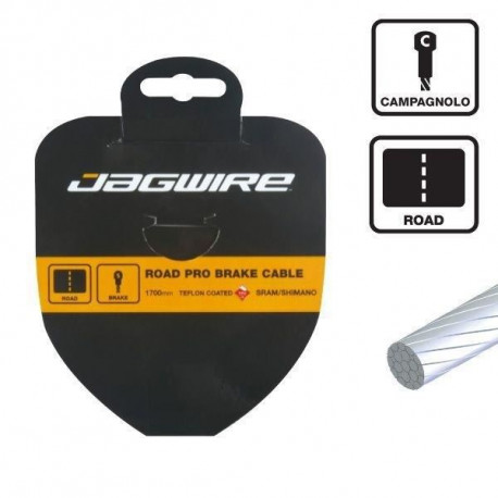 JAGWIRE Câble de frein Slick Stainless - Route  - 1.5 x 1700 mm