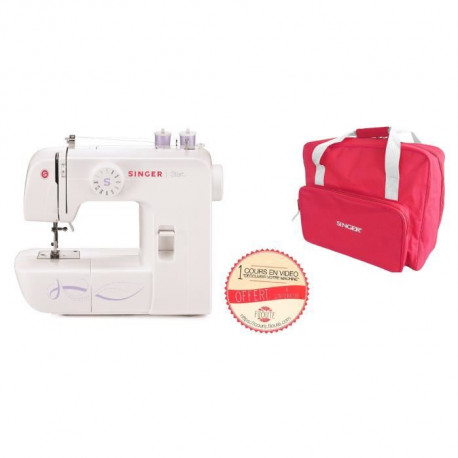 SINGER MC FILOUTE 1306 Machine a coudre + Sac de transport - Rouge
