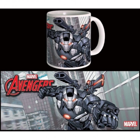 Mug Marvel War Machine Avengers Série 2 Blanc