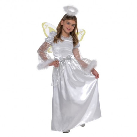 AMSCAN Costume Ange - Fille robe - Ailes et Diademe