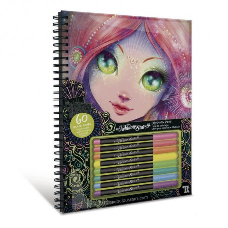 NEBULOUS STARS - Coralia Black Pages Coloring Book
