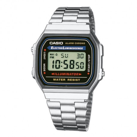 CASIO Montre Quartz Chronographe A168WA1YES Mixte
