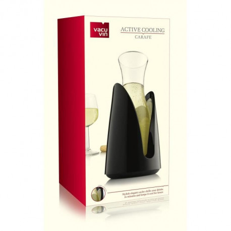 Rapide Ice Cooling Carafe Noir VACUVIN
