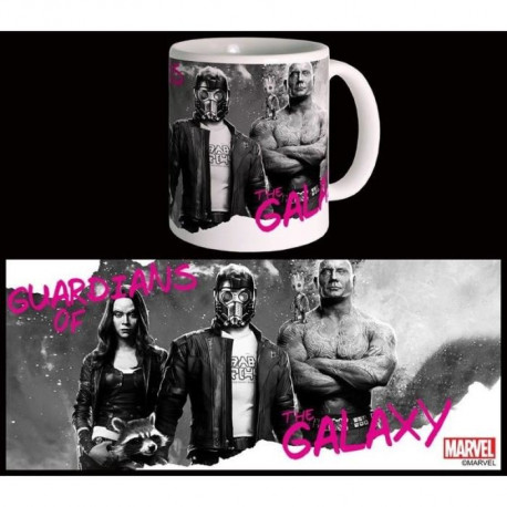 Mug Marvel Monochrome Galaxy Gardiens De La Galaxie Vol 2 Blanc