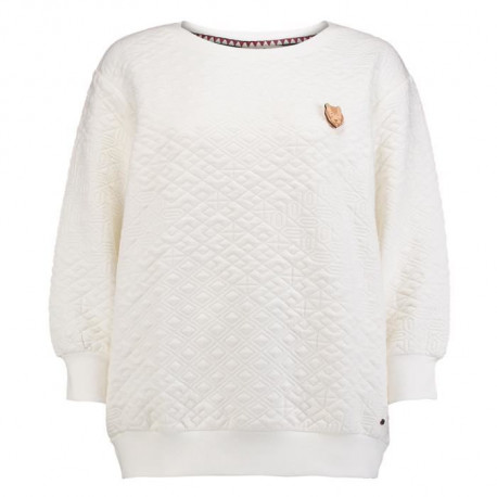 O'NEILL Sweatshirt a manches longues Quilted Silver - Femme - Blanc