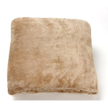 Couverture Microfibre Grand Luxe 220x240cm TAUPE