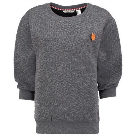O'NEILL Sweatshirt a manches longues Quilted Mareine - Femme - Gris