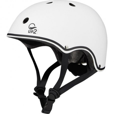 UP2GLIDE Casque Rollers - Mixte - Blanc