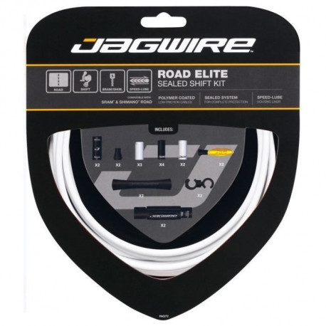 JAGWIRE Kit câble vitesse Road Elite Sealed Shift - Gaine prélubrifiées - Faible friction - Blanc