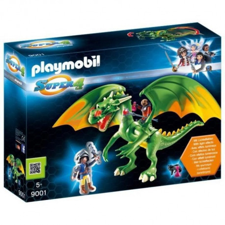 PLAYMOBIL 9001 - Super 4 - Dragon Médiévalia avec Alex