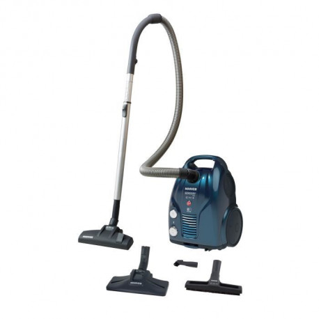 HOOVER SO40PAR SENSORY EVO Aspirateur traineau avec sac - 4A++ Performances Ultimes - 72 dB - Bleu brillant