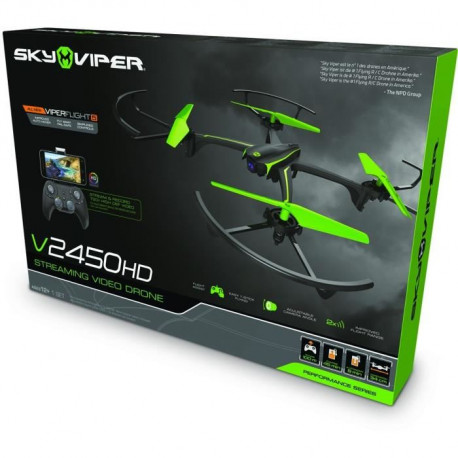 MODELCO Drone Sky Viper MDA Streaming video - Noir et Vert