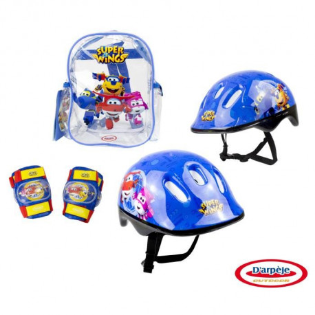 SUPER WINGS Set 3 protections : casque + coudieres + genouilleres