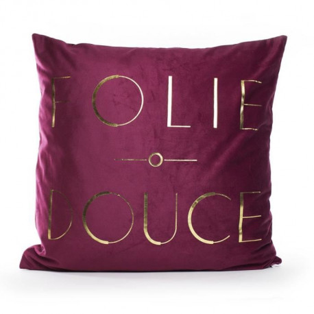 MARLENE BACKER Coussin Folie douce 45x45 cm Bordeaux