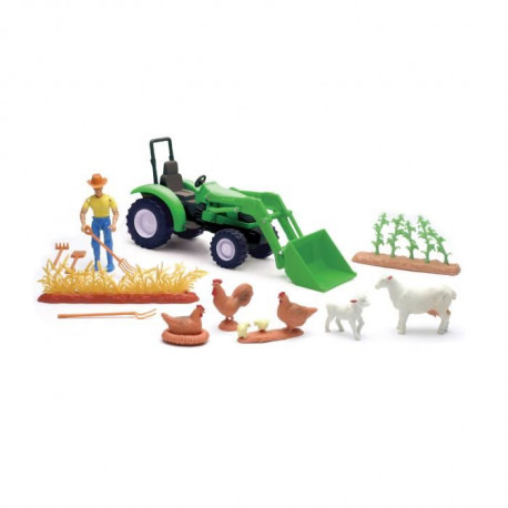 NEW RAY  Ferme Vehicule Animaux Accessoires - Miniature  - 23,5 cm