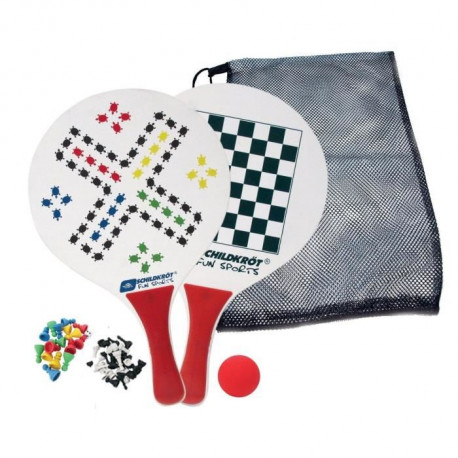 SCHILDKROT Raquette Plage Beachball Set Games