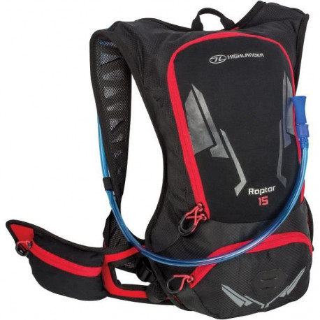 HIGHLANDER Pack Hydratation Kestrel 15 Noir Rouge