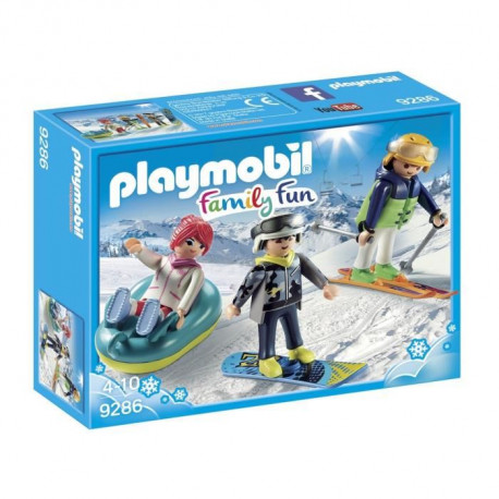 PLAYMOBIL 9286 - Family Fun - Vacanciers aux Sports d'Hiver