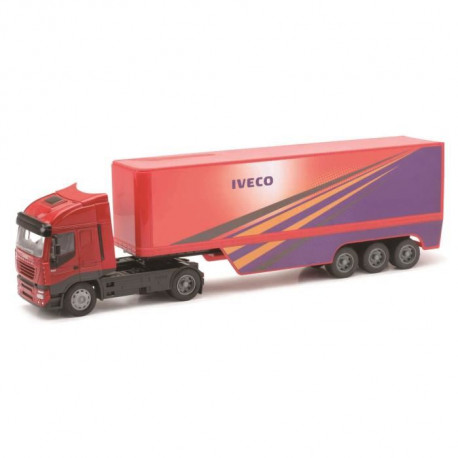 NEW RAY  Camion IVECO Conteneur - Miniature - 1/32° - 49 cm