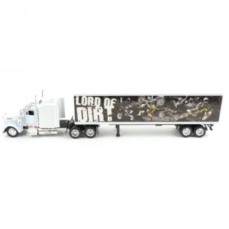 NEW RAY  Camion KENWORTH Décor Moto Cross - Miniature  - 1/43° - 36,5 cm