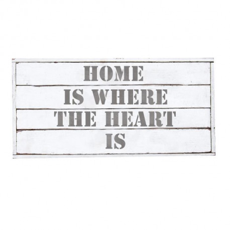 Stickers adhésif mural Home is where the heart is - 40x20 cm