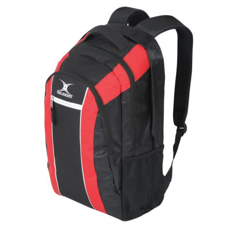 GILBERT Sac a dos CLUB V2 - H:47cm x W:20cm x P:33cm - Noir / Rouge