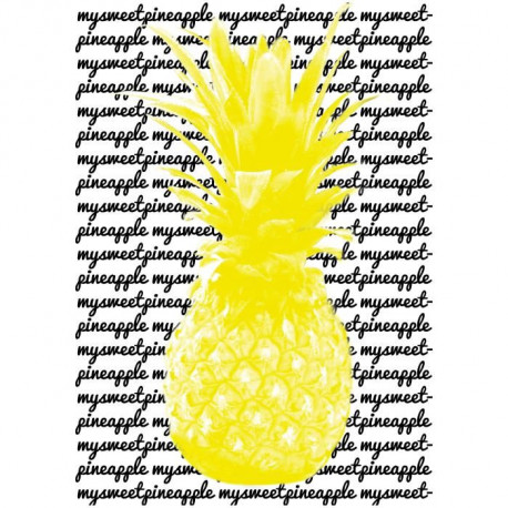 Tableau déco glossy PINEAPPLE YELLOW 50x70cm