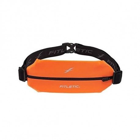 FITLETIC Ceinture Fitletic une poche élasthanne grand format - orange fluo