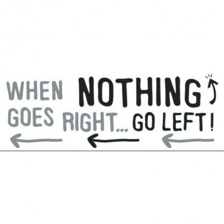 PLAGE Sticker déco - When nothing goes right1 Planche 24x68cm