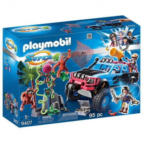 PLAYMOBIL 9407 - Super 4 - 4x4 avec Alex et Rock Brock