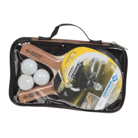DONIC SCHILDKRÖT Set raquette de tennis de table Persson 500 - 3 Balles incluses - Housse