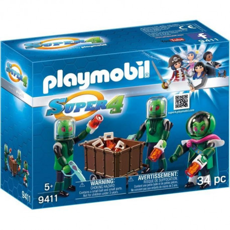 PLAYMOBIL 9411 - Super 4 - Sykronier Aliens