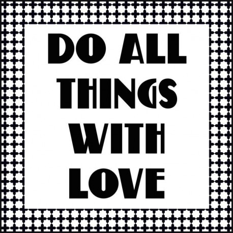 Tableau déco glossy WORDING DO THINGS 50x50 cm