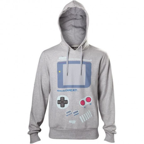 Pull a capuche Adulte Nintendo: Gameboy - Gris