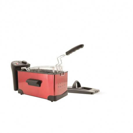 KITCHEN FRIDAY FRY Friteuse ? 2300W ? 3.3L - Rouge