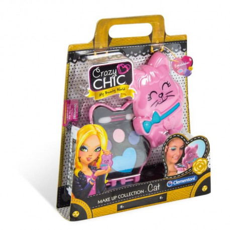 CLEMENTONI - Crazy Chic - Mini palette de Maquillage Enfant - Modele Chat