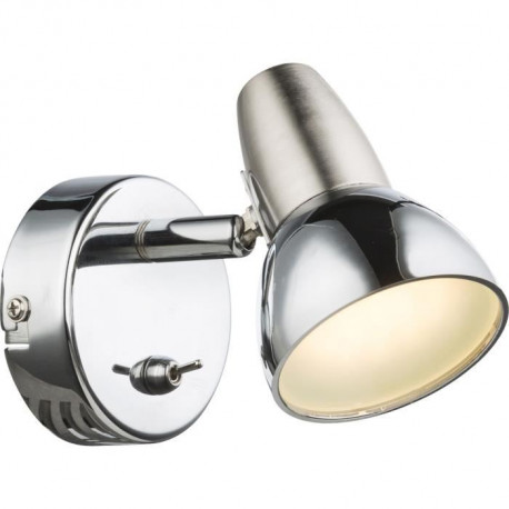 GLOBO Spot LED chrome nickel mat L13 x l8 x h10 cm