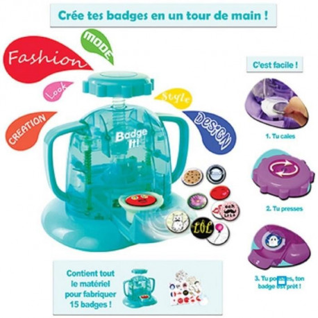BANDAI Badge It Machine a créer des Badge + 15 Badges