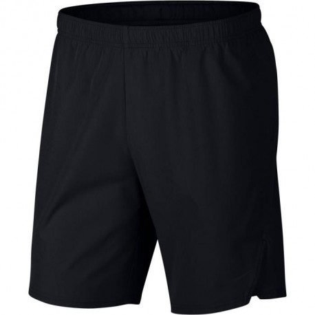 NIKE Short de tennis Flex Ace 9IN- Homme - Noir