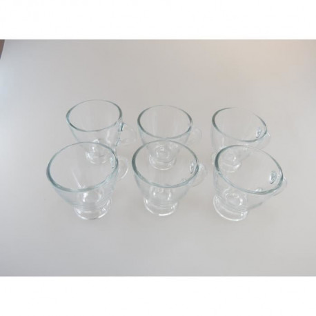 LEBRUN Set de 6 tasses a café Expresso 95ml transparent