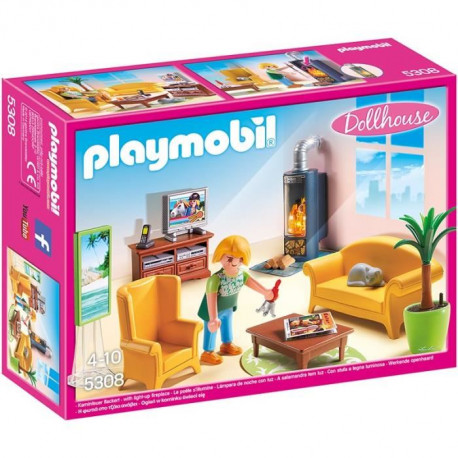 PLAYMOBIL 5308 - La Maison Traditionnelle - Salon avec Poele a Bois