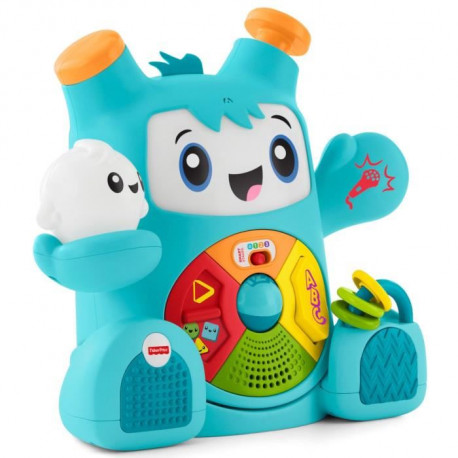FISHER-PRICE - Mon Ami Rocki - Robot Interactif Sons & Lumieres - 40 CM