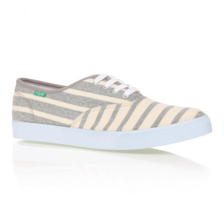 KEEP Baskets Homer Sun Stripe - Femme - Gris et Creme
