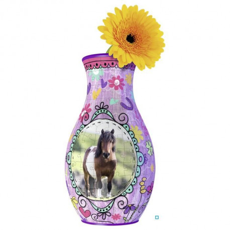 GIRLY GIRL Vase Chevaux (Puzzle 3D)