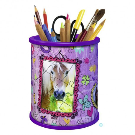 GIRLY GIRL Pot a Crayons Chevaux (Puzzle 3D)