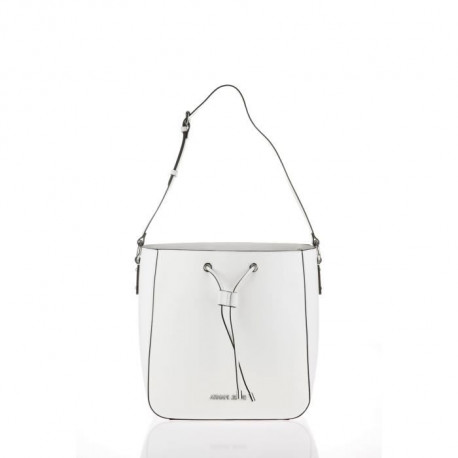ARMANI JEANS - Sac a Bandouliere Blanc a Coulisse - Femme