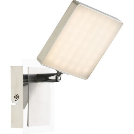 Spot LED en nickel mat 13,5x9,5x14,5cm