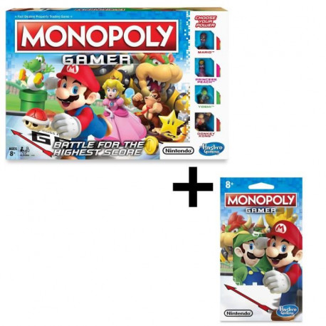 MONOPOLY - Gamer, le jeu version Mario + Personnages a collectioner