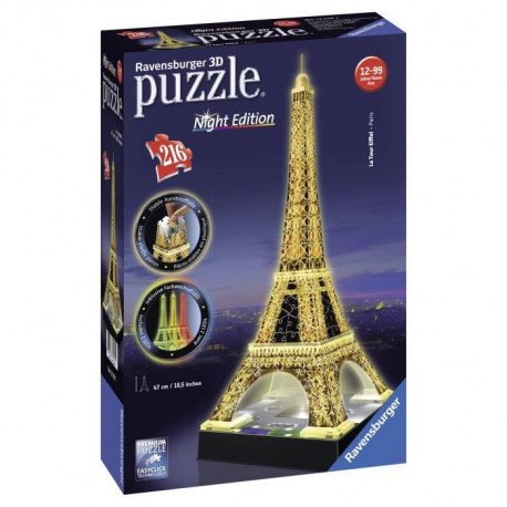 RAVENSBURGER Puzzle 3D Tour Eiffel Night Edition 216 pcs